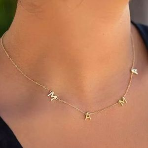 ✨✨Gold Dainty Mama Initial Necklace✨✨